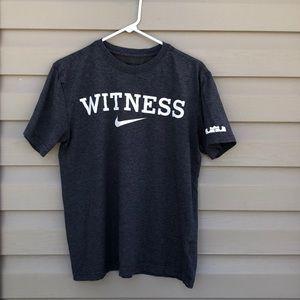 Nike men's dri-fit gray &white short sleeve shirt